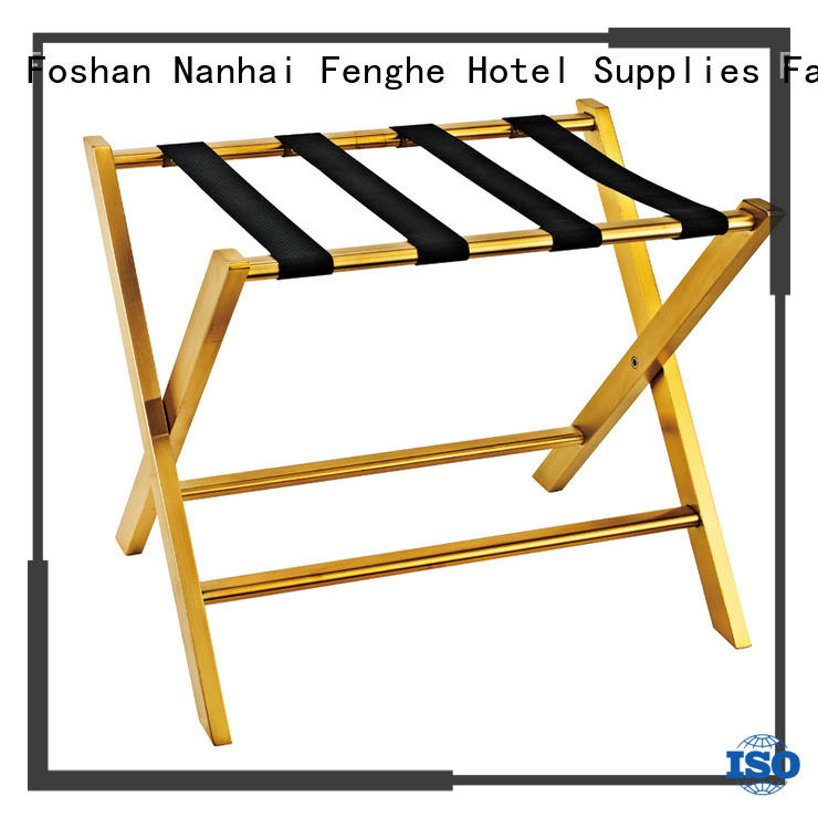 customized hotel room luggage holder wooden supplier for motel