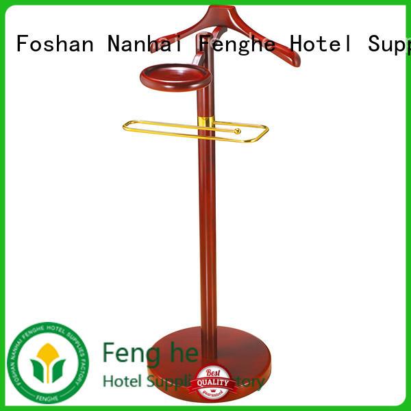 Fenghe wooden hanging coat rack for seminars