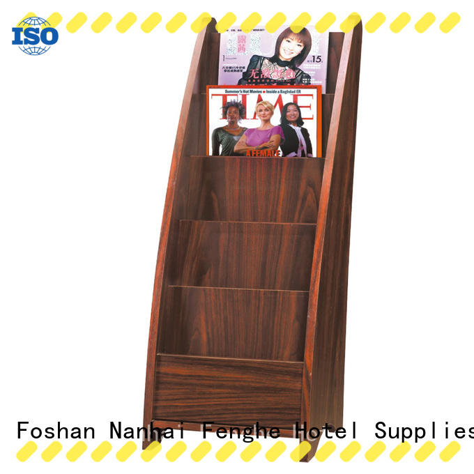 Fenghe solid newspaper stand factory for guest rooms