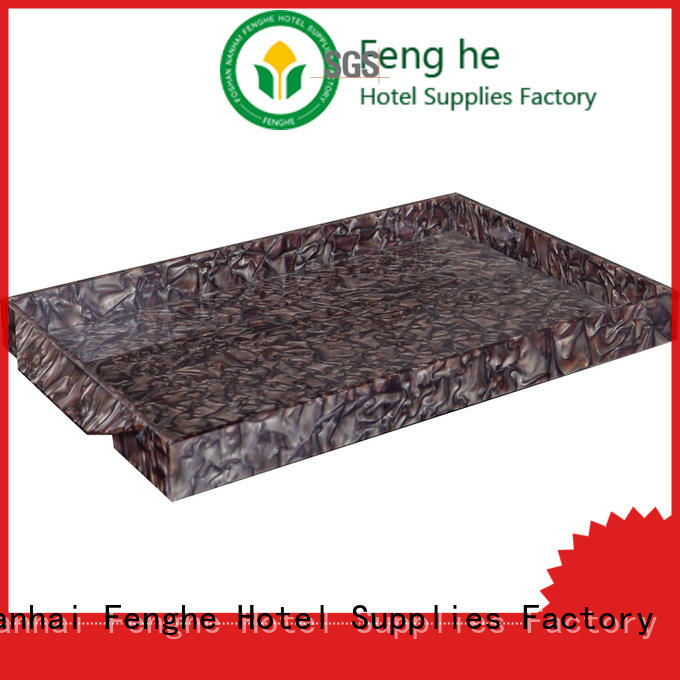 black acrylic tray quick transaction for hotel Fenghe