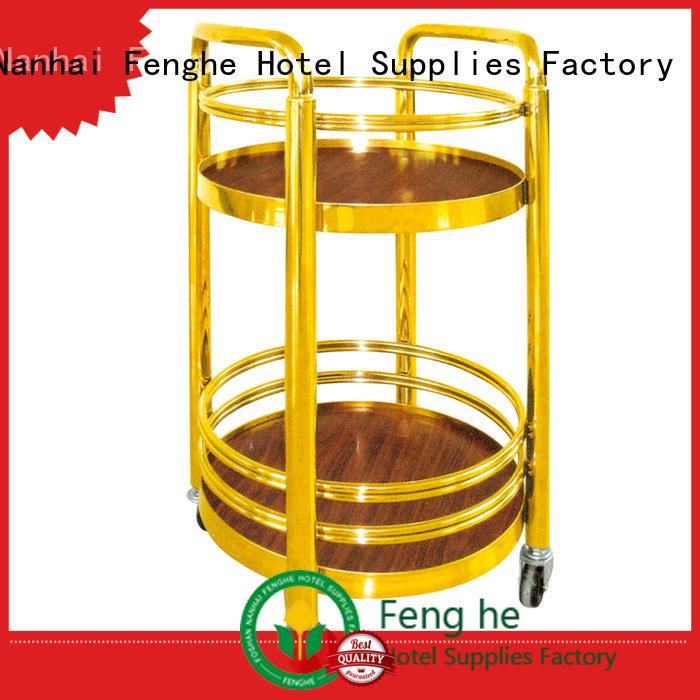 Fenghe unique design vintage drinks trolley trader for hotel
