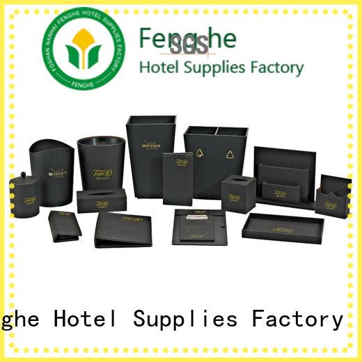 Fenghe elegant leather writing folder trader for hotel