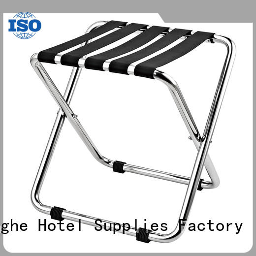 Fenghe back hotel room luggage stand supplier for motel