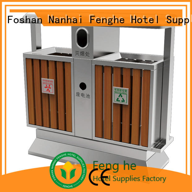 Fenghe deluxe commercial outdoor garbage cans flip for hotel
