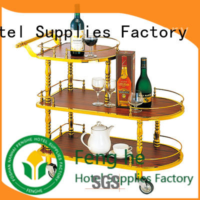 dinner liquor cart on wheels leading company for guest house Fenghe
