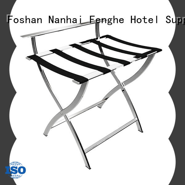 Fenghe metal hotel suitcase stand wholesaler trader for motel