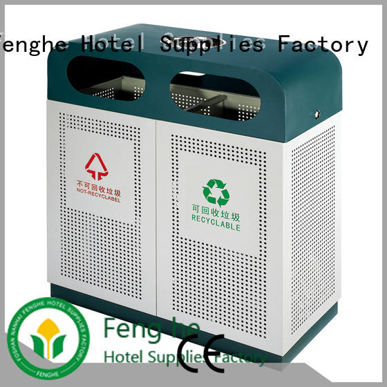 double outdoor trash can manufacturer for lobby