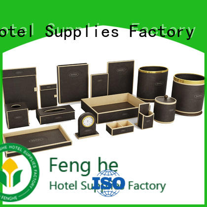 Fenghe yellow leather writing folder trader for hotel