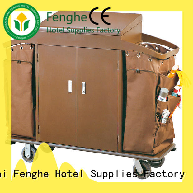 Fenghe professional hotel housekeeping maid cart trolley factory for wholesale