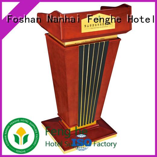 Fenghe design wooden pulpit manufacturer for lecture halls