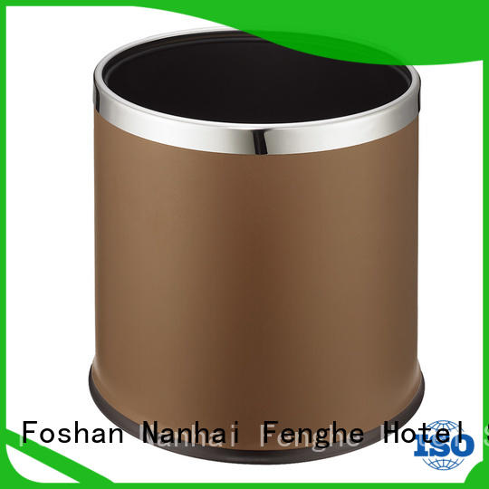 Fenghe double hotel waste bins factory for hotel