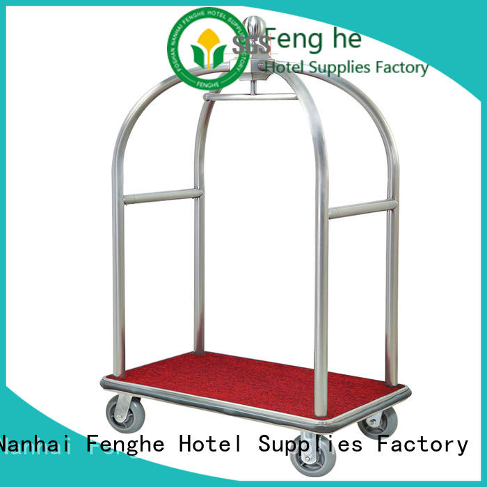 Fenghe trolley bellmans cart overseas trader for hotel