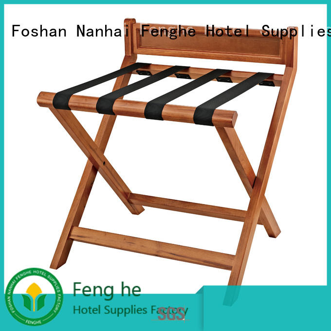 Newest solid wood folding hotel luggage rack