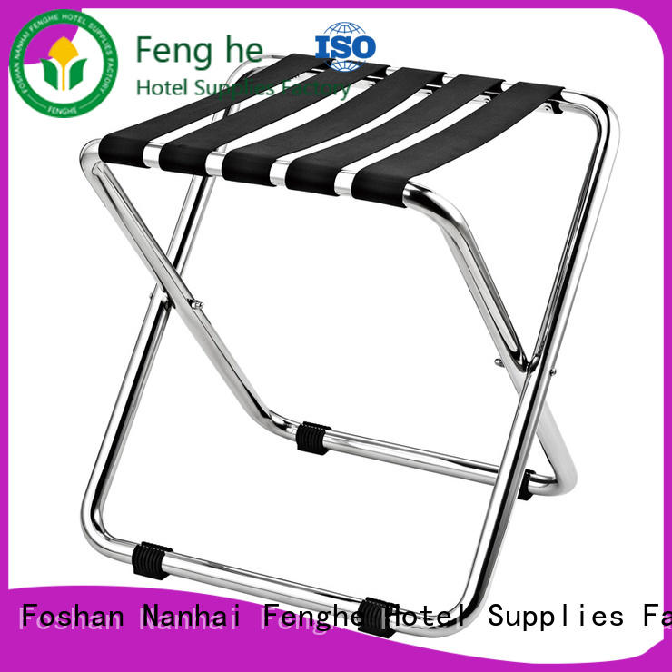 Fenghe high reliability hotel luggage stand supplier for motel