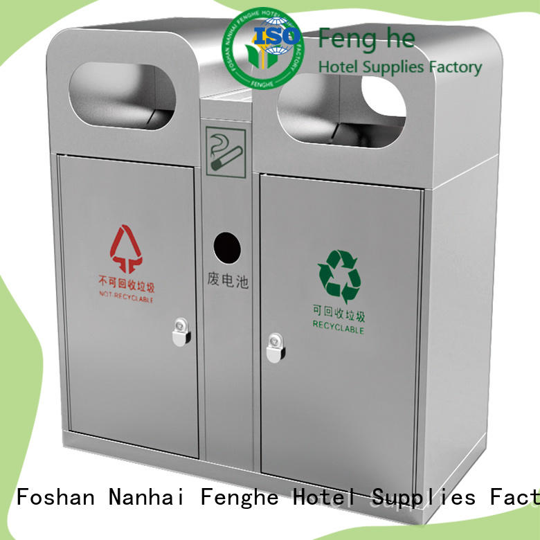 Fenghe deluxe outdoor garbage cans chinese manufacturer for lobby