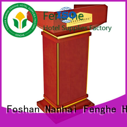 Fenghe low moq pulpit lectern source now for hotel industry