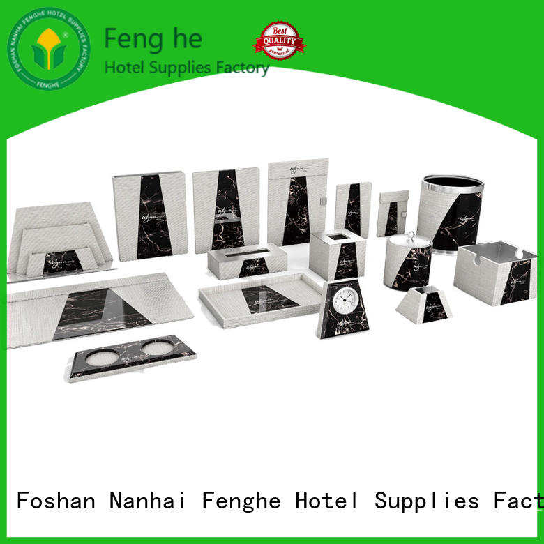 Fenghe accessories leather tissue box trader for hotel