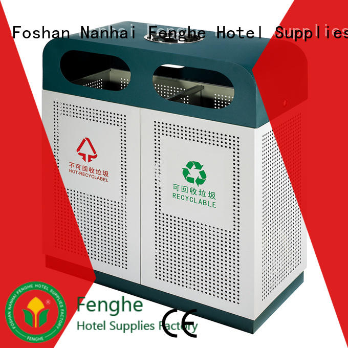 Fenghe deluxe outdoor trash can manufacturer for public house