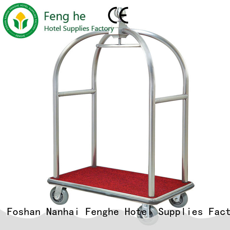 Fenghe high reliability hotel style luggage cart order now for hotel