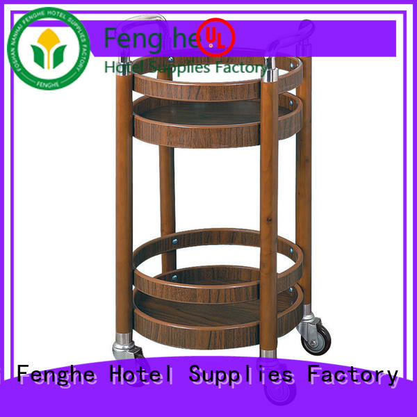 Fenghe wheels wine cart trader for guest house