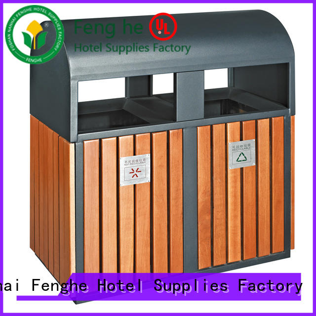Fenghe recycle outdoor trash can storage factory for lobby