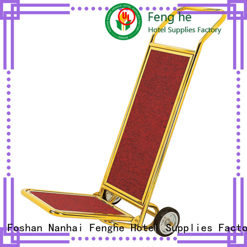Fenghe OEM ODM hotel luggage cart source now for motel