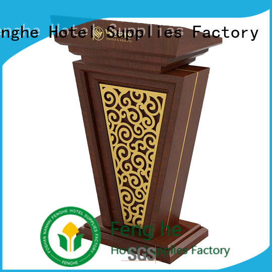 Fenghe wooden lectern metal for bankquet halls