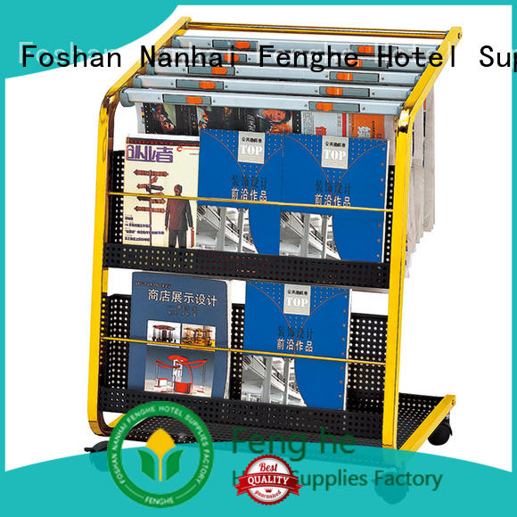 Fenghe most popular rack for newspapers solid for guest rooms