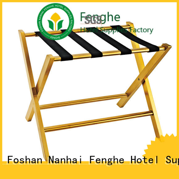 Fenghe supplies hotel room luggage stand solution expert for motel