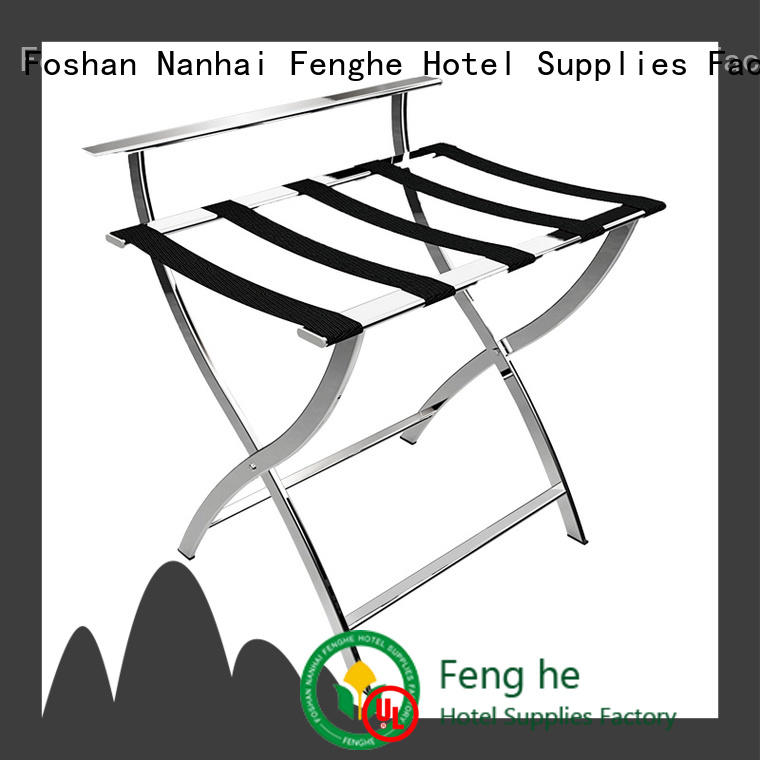 high reliability hotel room luggage stand wooden wholesaler trader for motel