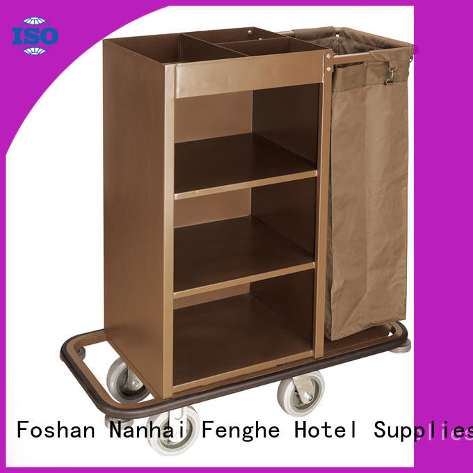 Fenghe customer hotel housekeeping trolley trader for hotel