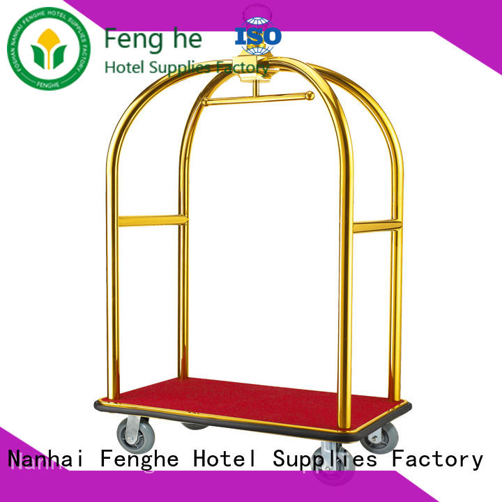 Fenghe high reliability bellman cart overseas trader for hotel