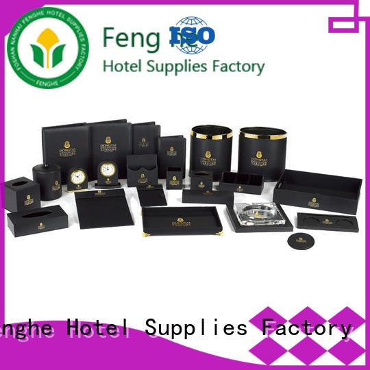 Fenghe elegant leather folder awarded supplier for guest house