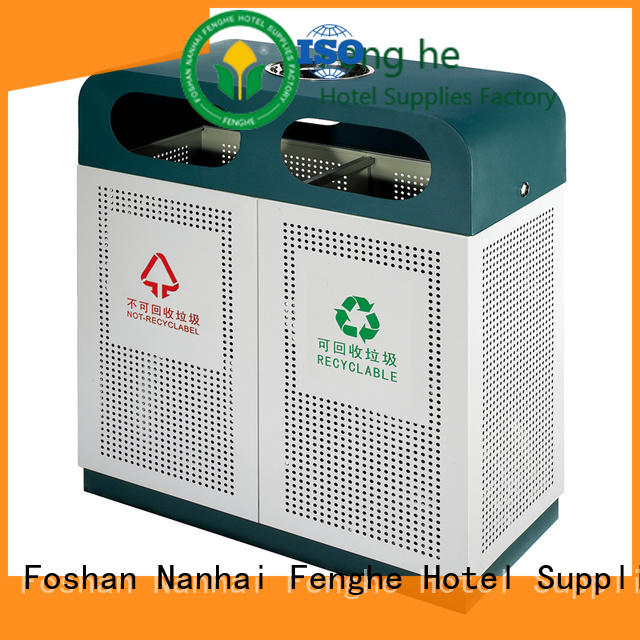 Fenghe wpc outdoor garbage cans chinese manufacturer for public house