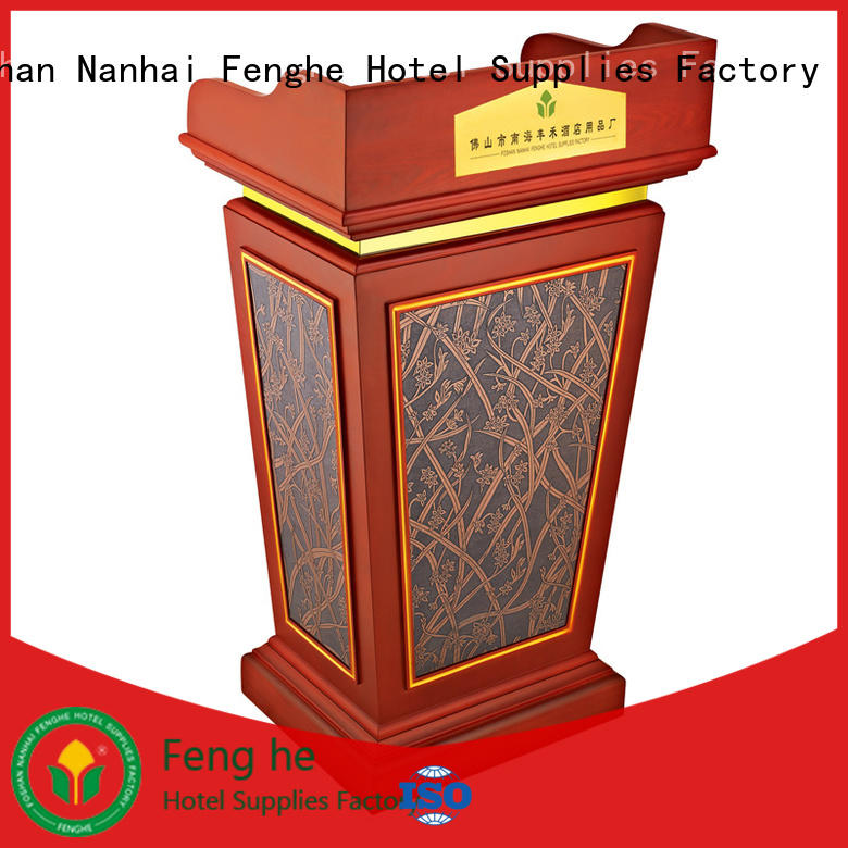 Fenghe Fenghe wooden lectern manufacturer for hotel industry