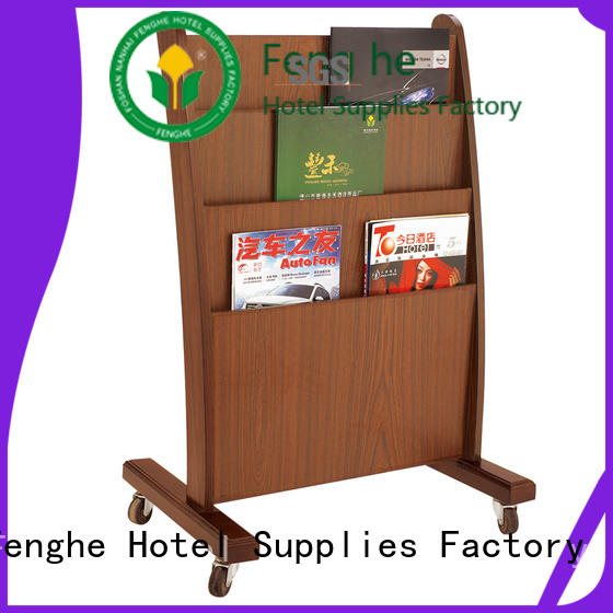 Fenghe customized newspaper stand quick transaction for guest rooms