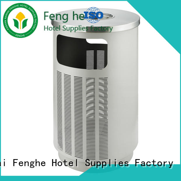 stainless small outdoor trash can factory for lobby Fenghe