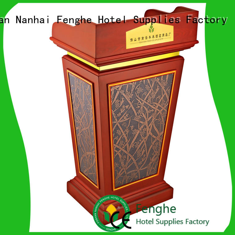 Fenghe cherry rostrum manufacturer for lecture halls