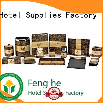 Fenghe elegant leather folder trader for hotel