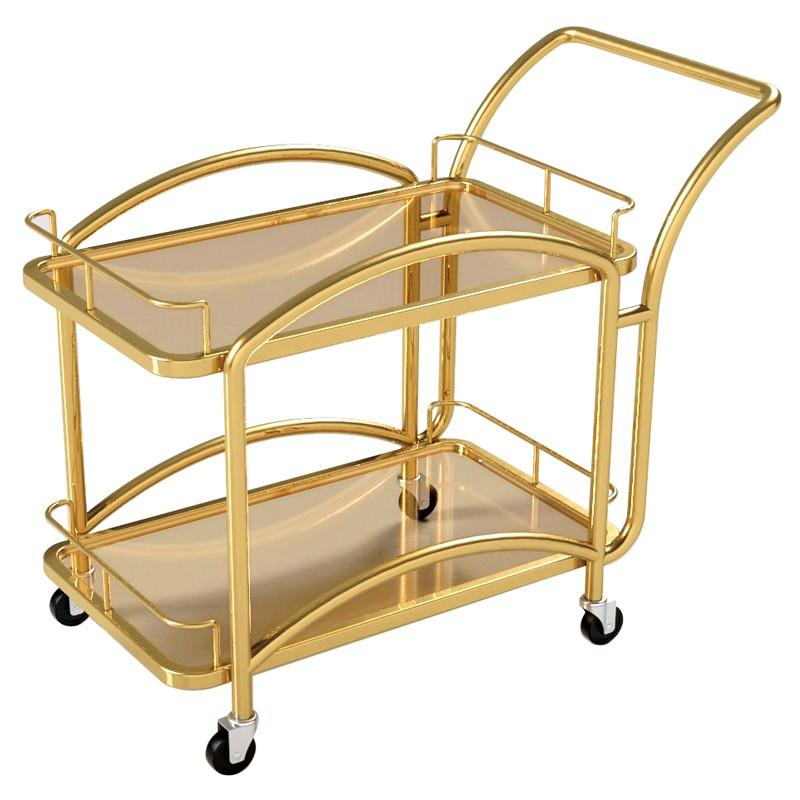 new serving trolley 2layer awarded supplier for guest house-1