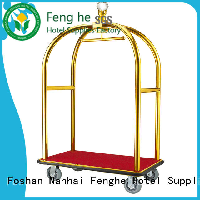 Fenghe four hotel luggage dolly source now for gym